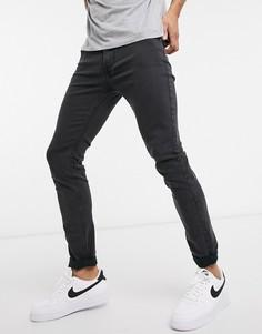Облегающие эластичные джинсы выбеленного черного цвета Lee Malone-Черный