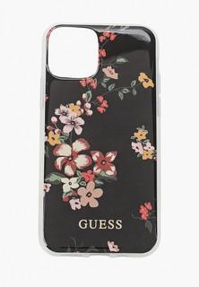 Чехол для iPhone Guess 11 Pro, Flower TPU/PC Shiny N.4 Black