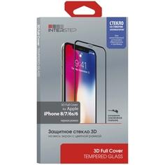 Защитное стекло InterStep 3D Full Cover iPhone 8/7/6s/6 Black Frame c аппл.