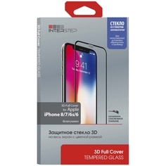Защитное стекло InterStep 3D Full Cover iPhone 8/7/6s/6 White Frame c аппл.