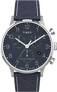 мужские часы Timex TW2T71300VN. Коллекция The Waterbury Classic Chronograph