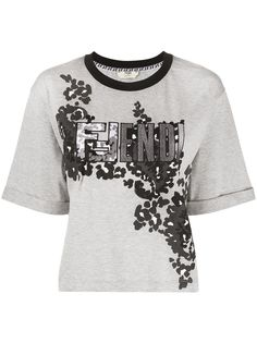 Fendi футболка с логотипом