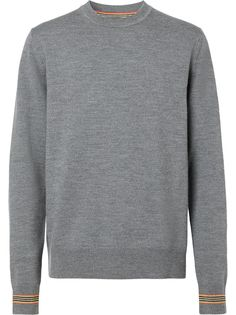 Burberry пуловер с отделкой Icon Stripe