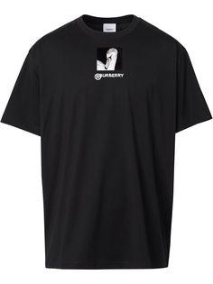 Burberry футболка с принтом Swan