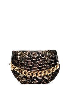 Versace клатч с заклепками и змеиным узором