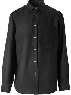 Burberry рубашка с вышитым логотипом