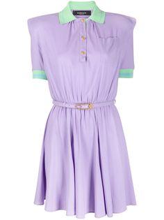 Versace платье поло с короткими рукавами
