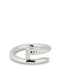 Cartier кольцо Juste Un Clou из белого золота с бриллиантами