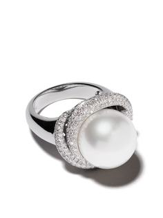 Yoko London кольцо Mayfair из белого золота с жемчугом и бриллиантами