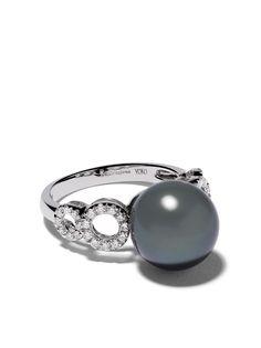 Yoko London кольцо из белого золота с жемчугом и бриллиантами