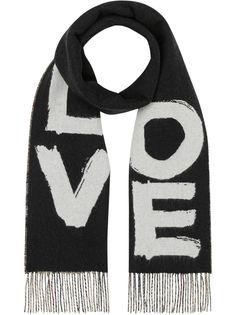 Burberry кашемировый шарф с принтом