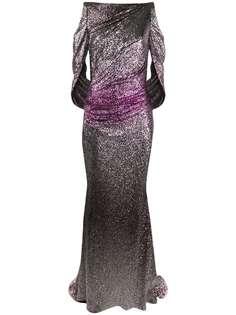 Talbot Runhof вечернее платье с пайетками