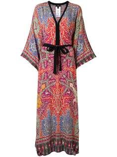 Etro платье-кафтан с принтом пейсли