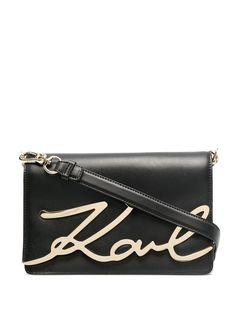 Karl Lagerfeld сумка через плечо с металлическим логотипом
