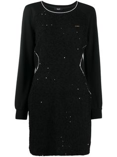 LIU JO платье-толстовка с пайетками