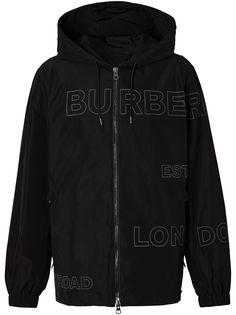 Burberry куртка с принтом Horseferry и капюшоном