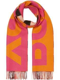 Burberry двусторонний шарф с логотипом