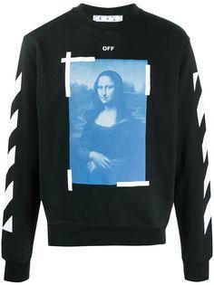 Off-White толстовка с принтом Mona Lisa