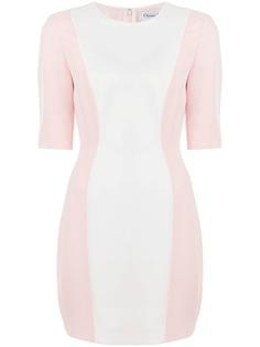 Christian Dior платье pre-owned в стиле колор-блок