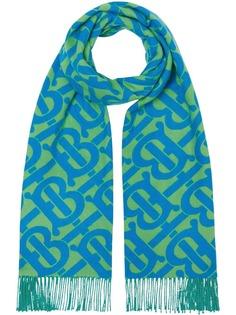 Burberry кашемировый шарф с монограммой
