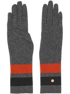 Burberry перчатки с полосками и монограммой
