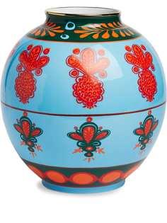 La Doublej ваза Bubble Pineapple Azzurro (23 см)