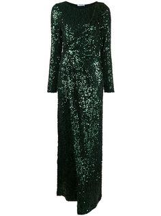 P.A.R.O.S.H. платье с длинными рукавами и пайетками