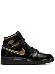 Nike Kids кроссовки Air Jordan 1 Retro High OG Black Metallic Gold