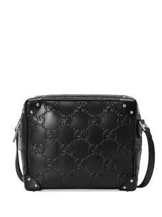 Gucci сумка на плечо с тисненым узором GG