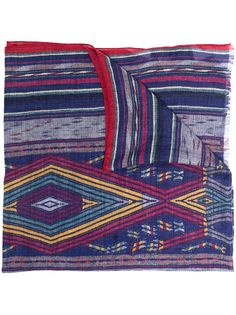 Etro кашемировый шарф с геометричным принтом