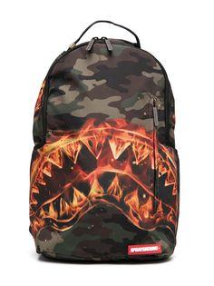 sprayground kid рюкзак Fire Shark с камуфляжным принтом