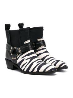 Cinzia Araia Kids ботинки челси с зебровым принтом