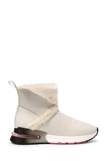 Белые кожаные ботинки Ash