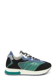 Разноцветные комбинированные кроссовки Tiger Ash