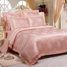 Постельное белье (2-х спальный комплект) kingsilk (kingsilk) розовый 60x45x12 см.