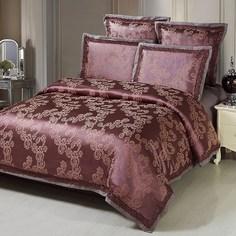 Постельное белье (семейный комплект) kingsilk (kingsilk) коричневый 60x45x12 см.