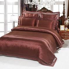 Постельное белье (2-х спальный комплект) kingsilk (kingsilk) красный 60x45x12 см.
