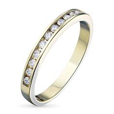 Кольцо из желтого золота с бриллиантом э0301кц04151900 ЭПЛ Якутские Бриллианты