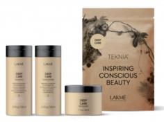 Lakme, Дорожный набор восстанавливающий (шампунь, кондиционер, маска) Travel Pack Deep Care, 100/100/50 мл
