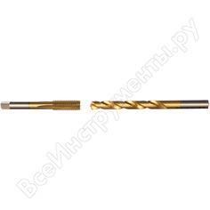 Набор для нарезания резьбы №37 метчик м12x1,75 + сверло d 10,3 мм профоснастка эксперт hss m2 tin 160201017