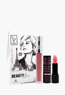 """Набор для макияжа губ Yllozure Подарочный (бальзам для губ """"ВВ-уход"""", Матовая жидкая помада Velvet )"""