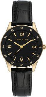 Женские часы в коллекции Leather Женские часы Anne Klein 3734BKBK