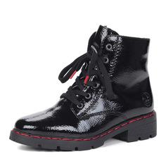 Ботинки Черные ботинки из экокожи на шнуровке Rieker