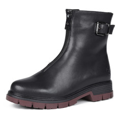 Ботинки Черные ботинки из кожи на рифленой подошве Rieker