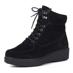 Ботинки Черные ботинки из велюра Rieker