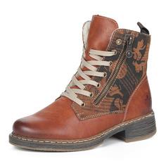 Ботинки Коричневые ботинки из экокожи на шерсти Rieker