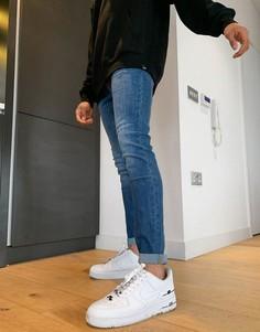 Облегающие джинсы стрейч выбеленного синего цвета с высокой талией Lee Malone-Голубой