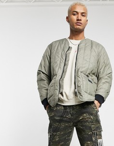 Уплотненная куртка цвета хаки в утилитарном стиле adidas Originals premium RYV-Зеленый