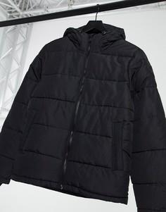 Черный пуховик из переработанных материалов Burton Menswear