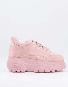 Розовые кроссовки на массивной платформе Buffalo-Розовый